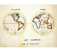 A Map of the World  Amy Baldwin sc Photographic Print