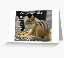 Top Ten challenge winner banner Greeting Card