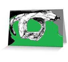 Snake Study II -(070413)- Digital art/mouse drawn/Program: Scribblertoo Greeting Card