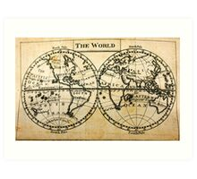 A New Geographical Pocket Companion Comprehending a Description of the Habitable World (New York, 1795) Art Print