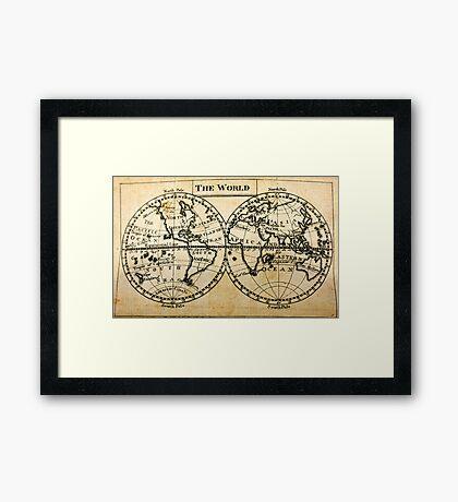 A New Geographical Pocket Companion Comprehending a Description of the Habitable World (New York, 1795) Framed Print