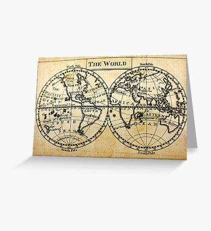 A New Geographical Pocket Companion Comprehending a Description of the Habitable World (New York, 1795) Greeting Card