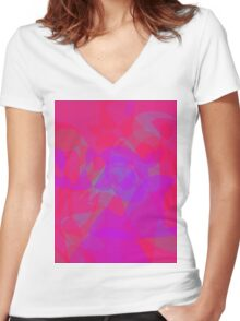 Rose at Night Women's Fitted V-Neck T-Shirt