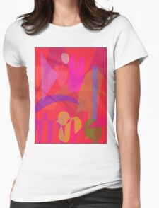 Red Passion in the Garden Womens Fitted T-Shirt