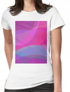 Purple Flow Womens Fitted T-Shirt
