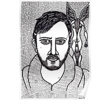 self portrait with a winged figure Poster