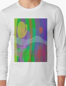 White Wave Long Sleeve T-Shirt