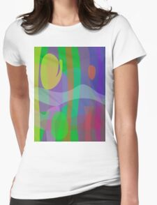 White Wave Womens Fitted T-Shirt