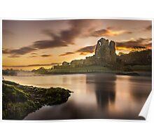 Sunrise at Ogmore Castle Poster