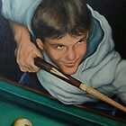The Pool Player by Pam Humbargar