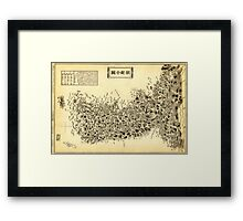 ap of the Korean Peninsula (1860) Framed Print