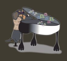 Wired Dachshund Piano by Diana-Lee Saville