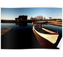 fishing boat at Hecla on Lake Winnipeg Poster