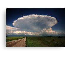 Storm clouds over Saskatchewan  Canvas Print