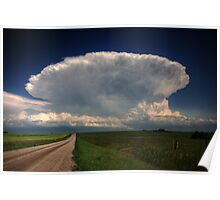 Storm clouds over Saskatchewan  Poster
