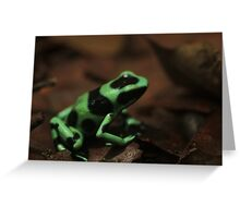 Commando Frog Greeting Card