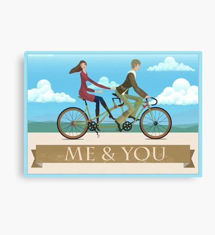 Me & You Bike Canvas Print