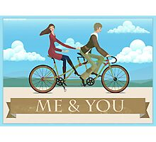 Me & You Bike Photographic Print