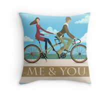Me & You Bike Throw Pillow