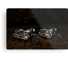 Brough Superior SS100 and 680 Metal Print