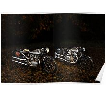 Brough Superior SS100 and 680 Poster
