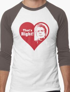 Bourdain Love Men's Baseball ¾ T-Shirt