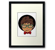 nerd boy Framed Print