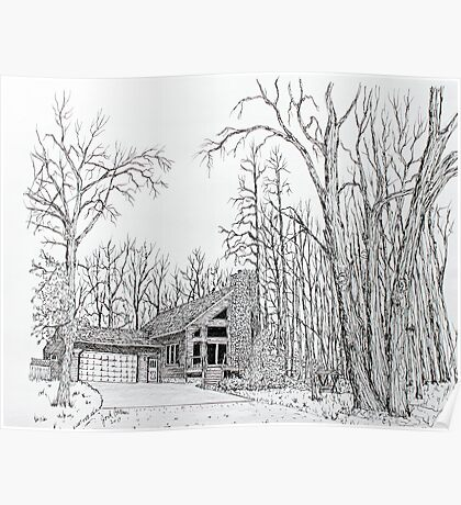 Homestead Pen & Ink Sample Poster