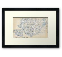 Bicycle Map of Wisconsin (1897) Framed Print
