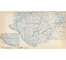 Bicycle Map of Wisconsin (1897) Photographic Print