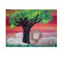 Lions Den  Art Print