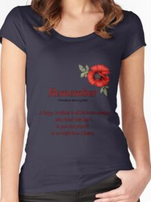 Remember Veterans Poppy Women's Fitted Scoop T-Shirt