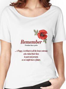 Remember Veterans Poppy Women's Relaxed Fit T-Shirt