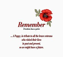Remember Veterans Poppy Long Sleeve T-Shirt