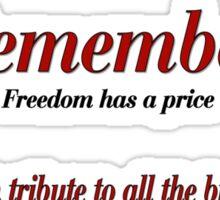 Remember Veterans Poppy Sticker