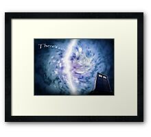 The crack in the wall Framed Print