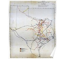 Bissell's railway junction map of Texas (1891) Poster
