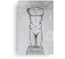 Greek statue - ink drawing Canvas Print