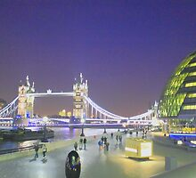 Tower Bridge night view by Arvind Singh