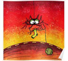 Knitting Spider Poster