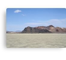 "The ""Black Rock"" at Black Rock Desert,outside Gerlach,Nevada,USA Canvas Print"
