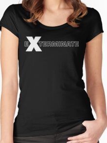 Basically, Exterminate! Women's Fitted Scoop T-Shirt