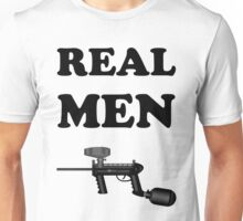 Paintball. Real Men Paintball. BL. Unisex T-Shirt