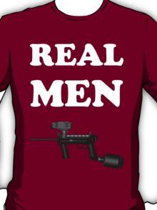 Paintball. Real Men Paintball. WHI. T-Shirt