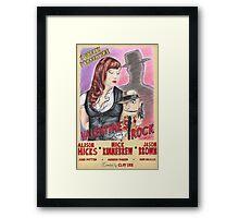 Valentine's Rock Framed Print