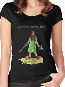 River Tam I Can Kill You With My Brain Dark Color T-shirts Version Women's Fitted Scoop T-Shirt