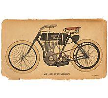 1903 Harley Davidson Photographic Print
