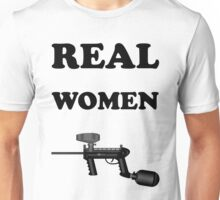 Paintball. Real Women Paintball. BL. Unisex T-Shirt