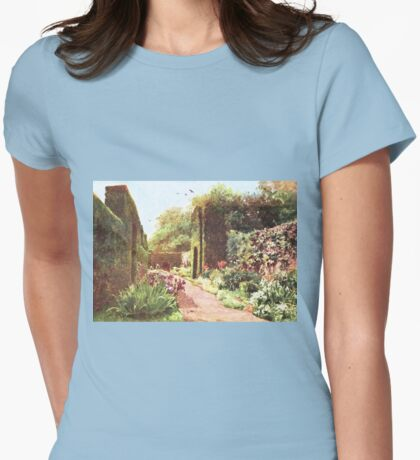 Vintage Landscape Painting Womens Fitted T-Shirt