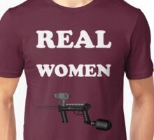 Paintball. Real Women Paintball. WHI. Unisex T-Shirt